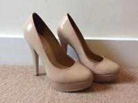 Nude heels (size 5)