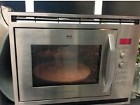 AEG Integrated microwave combi oven