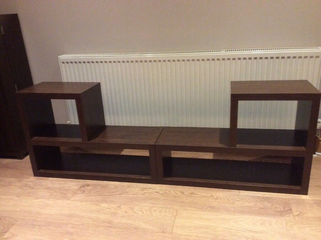 X6 pieces of living room furniture. Dark wood bought from Next Home.