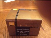 Nikon SB 400 Speedlight fully boxed excellent condition