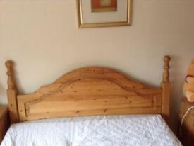 Antique pine double headboard