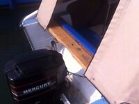 90hp Mercury oil injected 2 stroke with PTT power trim tilt outboard engine