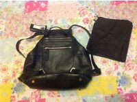 Marks And Spencer Autograph black leather backack (bag)