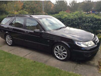 2003 Saab 9-5 95 HOT Area Black Estate Auto - SPARES OR REPAIRS