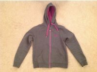 Canterbury, full zip hoodie, Womens, Grey + Purple, Size 8, Very good condition!