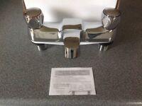 Brand new - chrome deck mounted Bath Taps RRP £300
