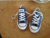 Ladies blue converse trainers