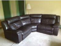 DFS Swift Modular brown leather corner sofa