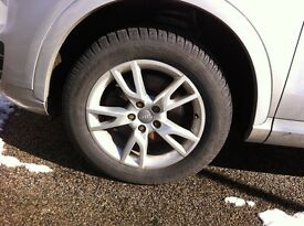 Audi Q3 Alloy Wheels with Winter Tyres