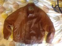 Leather jacket yellow cab xl
