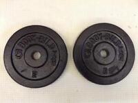 2 x 5kg Bodybild Standard Cast Iron Weights