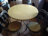 FREE DELIVERY ROUND TABLE AND 4 DINNING CHAIRS BARGAIN AT £40