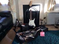 Electric Guitar bundle, guitar, stand, amp, full bundle. See description for full details.