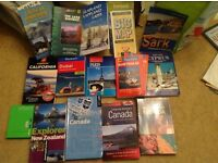 Travel books for sale various