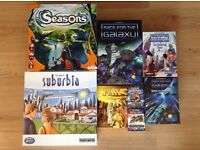 Board Games - Suburbia, Seasons, Star Realms, Race for the Galaxy, Pax