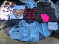 Bundle of woman's clothes / boots