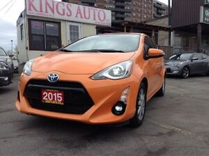 2015 Toyota Prius c HYBRID, SUNROOF, NAVI, BACK-UP CAM, LEATHER