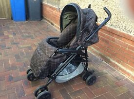 Mammas and Pappas pushchair ( plus separate car seat if required )