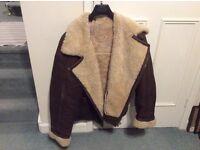 Men's Vintage Brown Leather Flying Jacket
