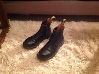 Doc Martin black boots size 6, worn once