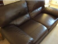 Set of 3 Leather sofas- mint