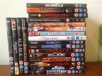 DVDs Job lot - 12 15 rating - action horror includes mama /expendables/fast and furious/taken2