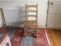 Solid, heavy, mango wood dining chair