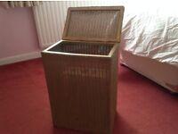 lloyd loom linen baskets ,two,