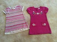 2x woollen dresses 2-3 years great condition