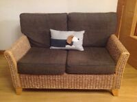 Brown wicker sofa. Excellent Condition