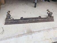Original antique art nouveau fire kerb surround fender