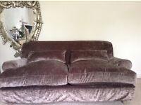 "MULTIYORK Sofa - ""almost new"" - Mink Taupe velvet loose cover - Multi York **delivery"