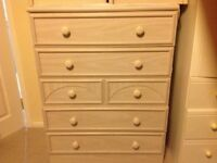 Chest of drawers and bedside units £120