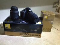 Nikon D3100 with 18-55 and 55-200 lenses