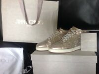 Rose Gold Jimmy Choo trainers