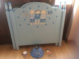 Two Pirate Headboards, lightshade and coathooks