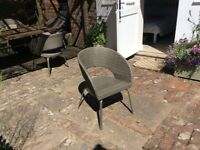 Set of 4 rattan garden chairs