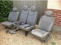 Three van seats for sale
