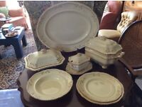 Oriental Ivory design from 1880s 63 piece dinner service