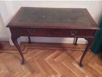 Antique desk mahogany with pad feet