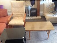 Tv table, small table and chair for sale