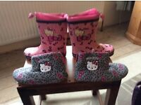 Hello kitty wellies/ slippers