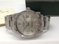 GENTS 1971 ROLEX OYSTER DATE PERPETUAL IN STAINLESS STEEL WITH ROLEX BOX & GUARANTEE PAPER