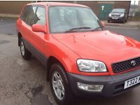 RAV4 with brand new clutch and mot to January 2018, brilliant red GX