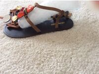 Stunning monsoon sandals shades of coral gold brand new SIZE 6 (39)