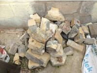 Small pile / amount of natural stone