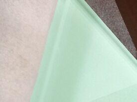 Glass worktop 800mm x 500mm 19mm thick Pistachio colour by Decoglaze
