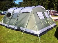 OUTWELL MONTANA 6 DELUXE FAMILY TENT WITH FOOTPRINT, 2013 MODEL, HARDLY USED