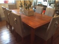 Quality Dining table and sideboard in walnut wood