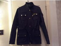 Barbour size 8 black new